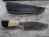 "CFK DAMASCUS STEEL  - WITH SHEATH - 4.5"" BLADE - MUST BE 18, AVAILABLE TO SIGN"
